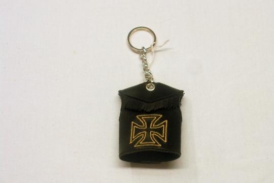 Accessori moto: Portachiavi ricamo croce