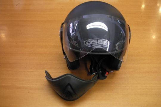 Accessori moto: Casco OSBE Rufus nero opaco